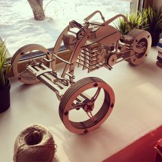 Wooden Plywood Bike 3D Puzzle CDR File