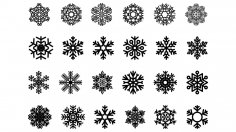 Snowflakes CDR File
