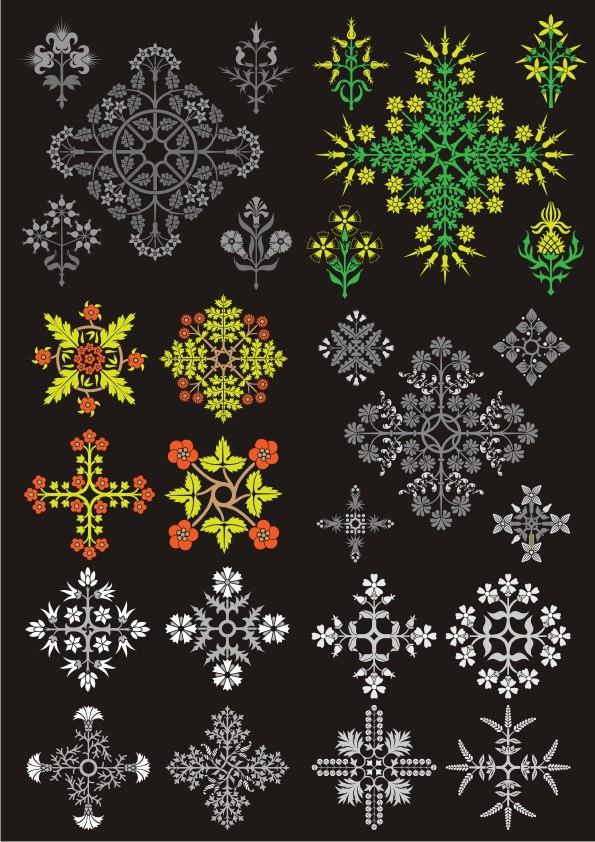 Floral Design Ornament Pack CDR File