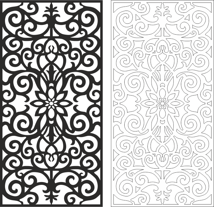 Seamless Pattern Floral Elements CDR File