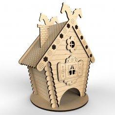 Laser Cut Tea House Hut Free Vector