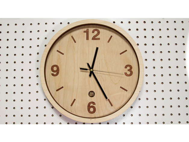 Wooden Clock Laser Cut Dxf File Free Download 3axisco