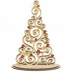 Plywood Christmas Tree On Stand Laser Cut Cnc Template Free Vector