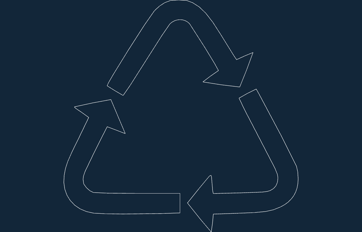 Recycling Symbol Dxf Free Download 3axis