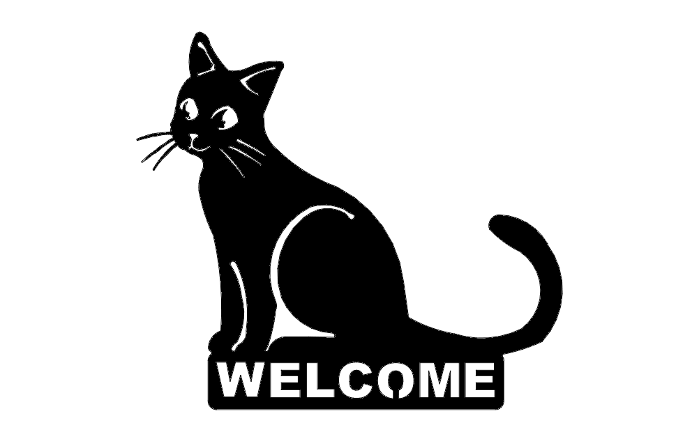 Cat Welcome Dxf File Free Download 3axis Co