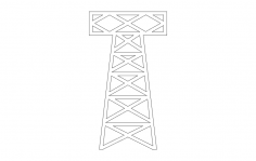 Small Oil Derrick dxf File