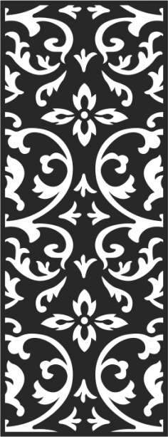 Black and white seamless vintage pattern CDR File