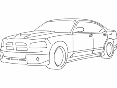 Dodge charger dxf File