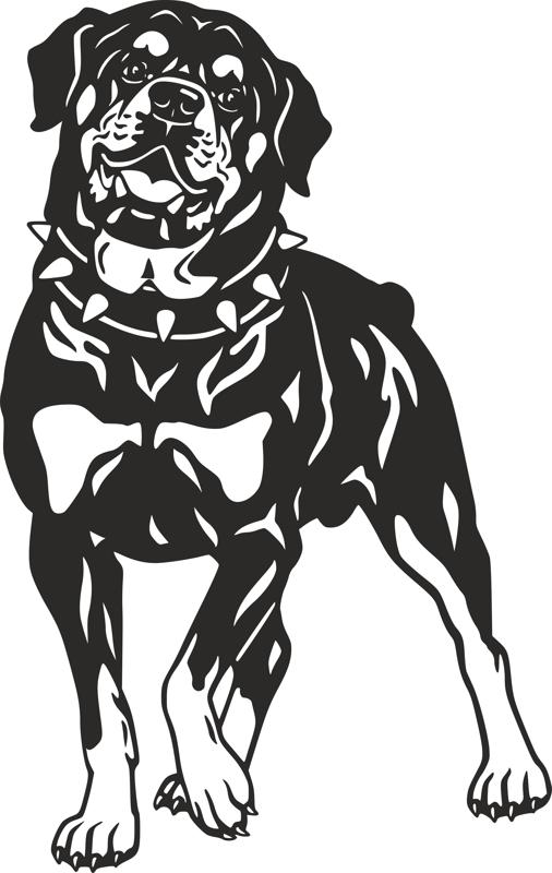 Dog Rottweiler Breed Vector Art Dxf File Free Download