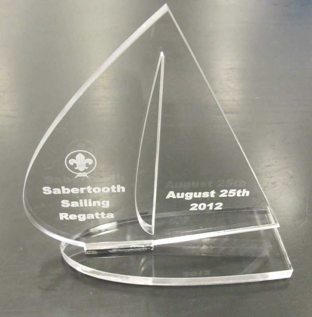 Laser Cut Acrylic Trophy CDR File