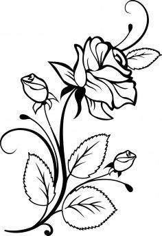 Rose Interior Design Vector CDR File