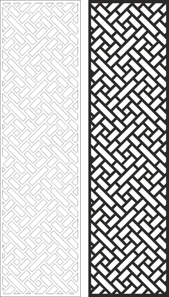Wall Panel Screen Design CNC Laser CDR File