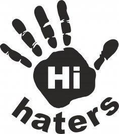 Hi Haters Decal Vector CDR File