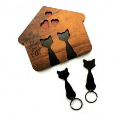 Cat shaped key holder CDR File