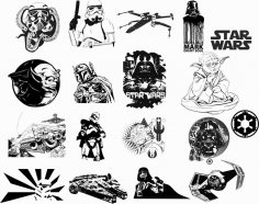 Star Wars Car Vinyl Sticker Auto Decals Vectors CDR File