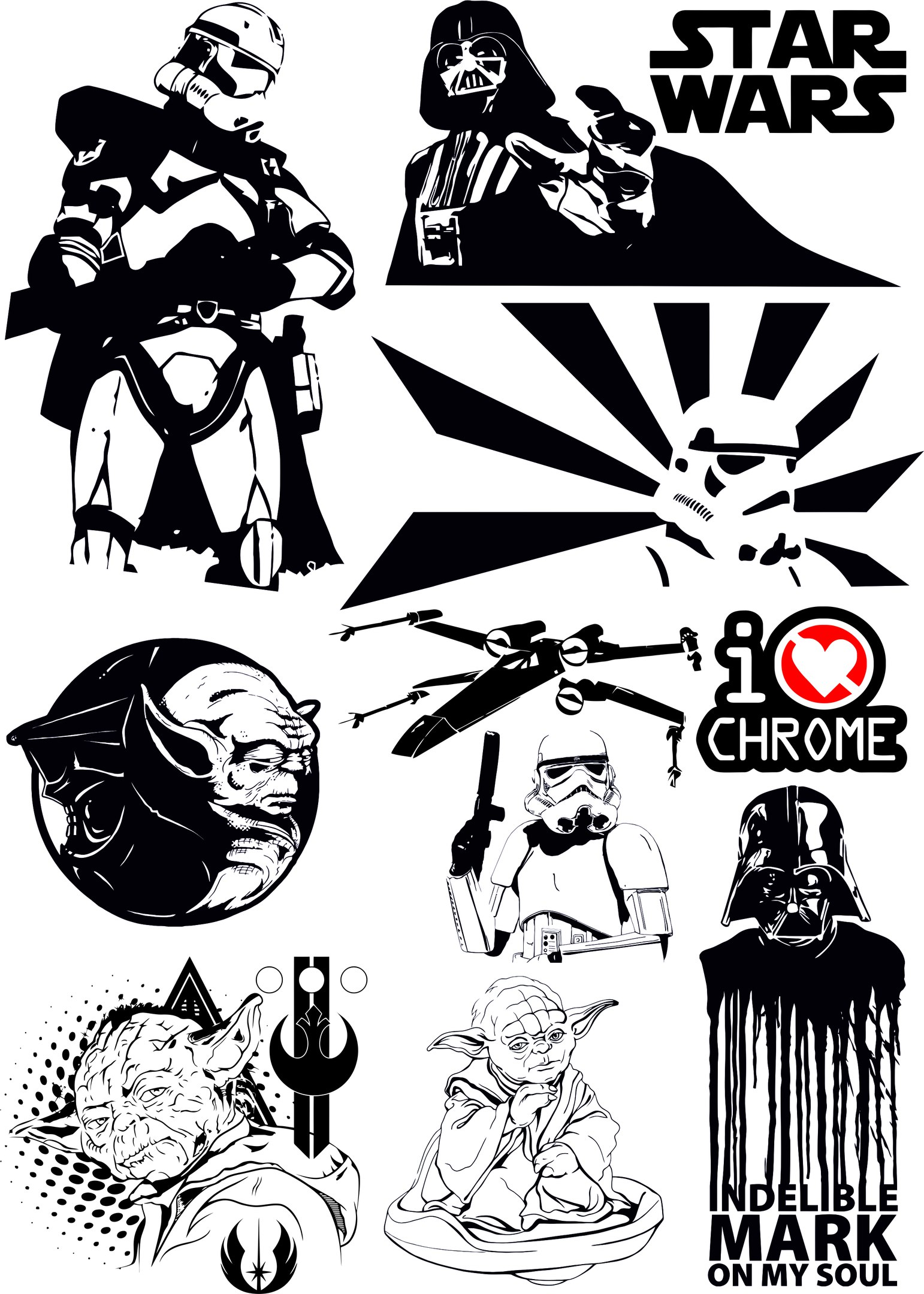 Star Wars Vectors Pack Free Vector Download 3axis Co