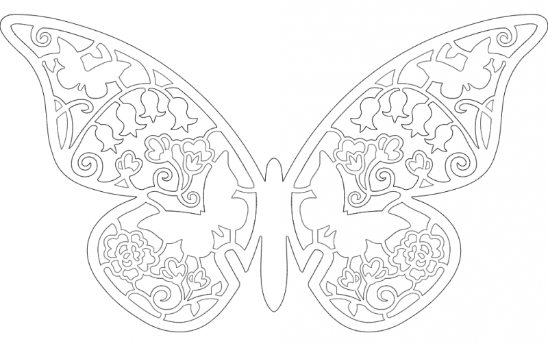 Laser cut Butterfly vector dxf File Free Download - 3axis co