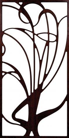 Unframed Grille Tree Pattern 300-v138 dxf File