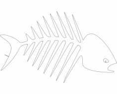 Fish Bones dxf File