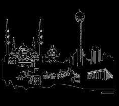 Ankara Silueti 2 dxf File