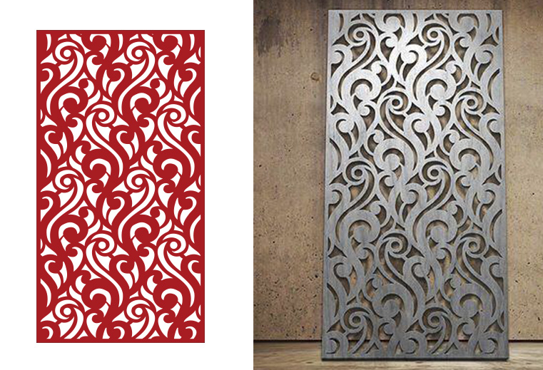 2D MDF CNC Cutting Jali Design DXF File Free Download - 3axis.co Cnc Plywood Door Design on