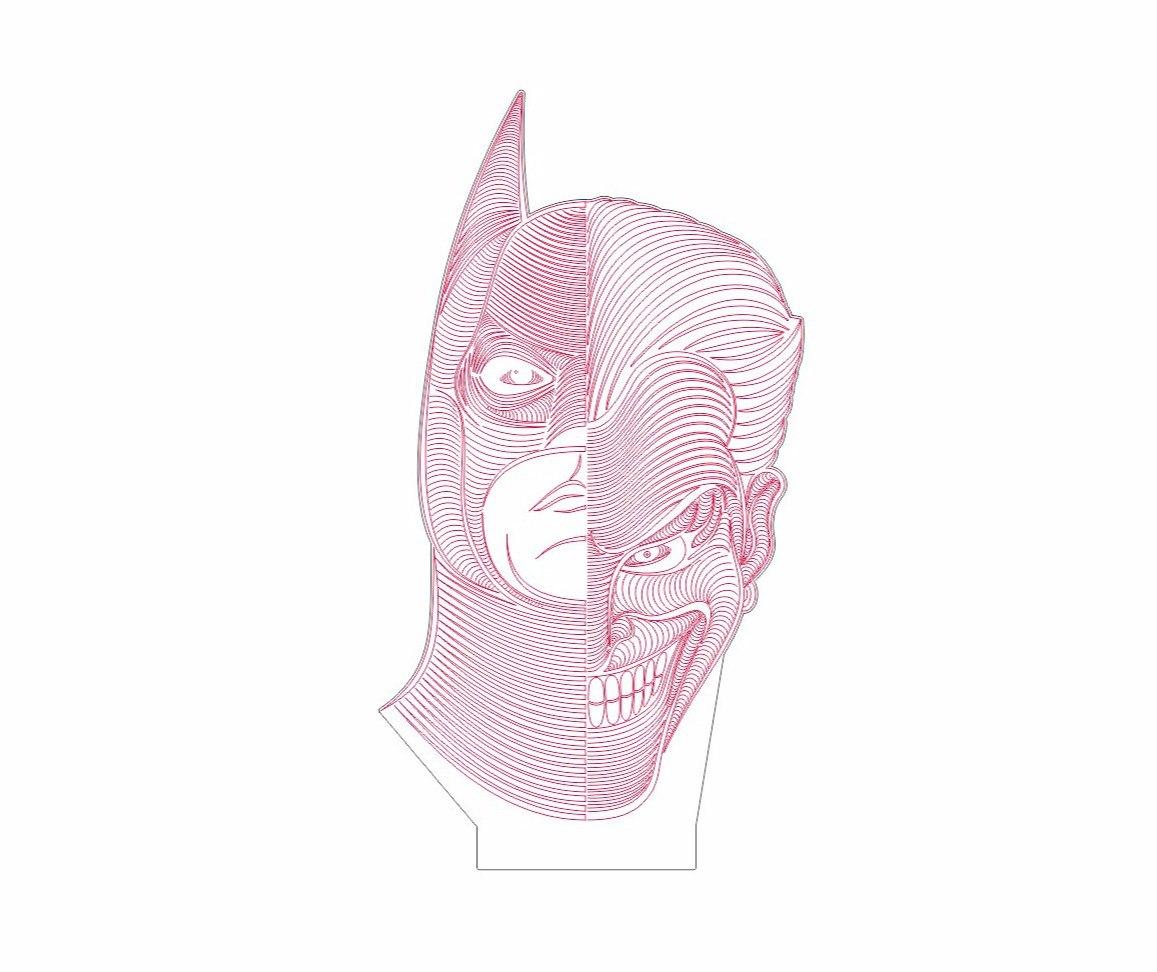 Batman Joker Dxf File Free Download 3axis Co