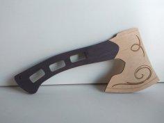 Laser Cut Wooden Axe DXF File
