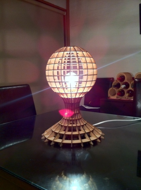 3d Puzzle Lamp Dxf File Free Download 3axis Co