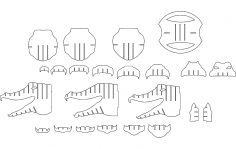 Alligator dxf file