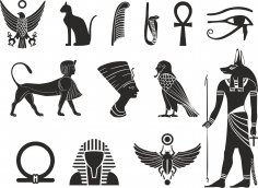 Egyptian Set Free Vector