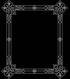 Mirror Frame 0472 dxf File