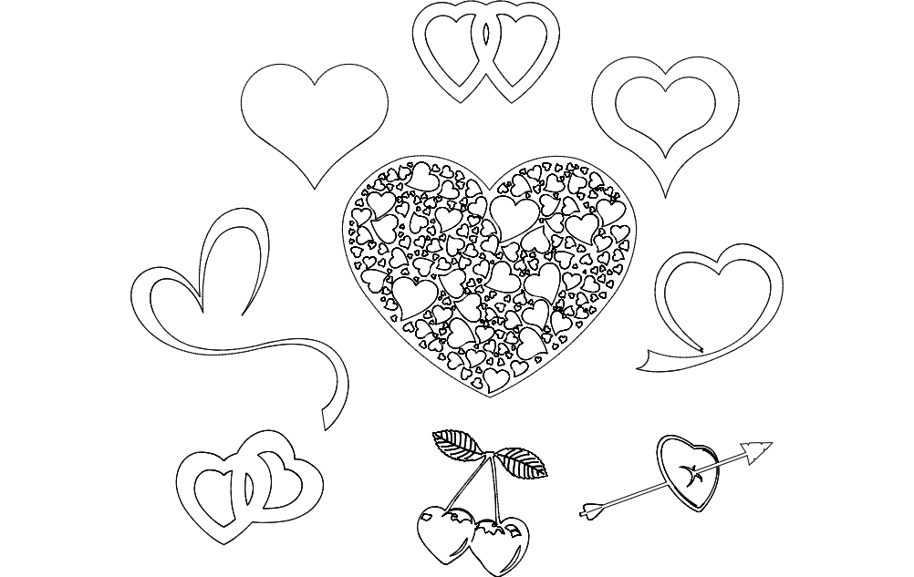 Valentine S Day Hearts Dxf File Free Download 3axis Co