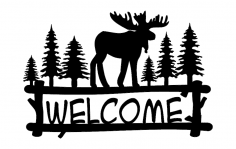 Welcome Moose dxf File