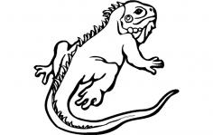 Lizard Animal dxf File