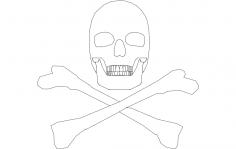 Silhouette Skull dxf File