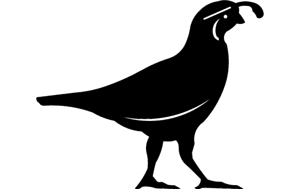 Quail Silhouette Dxf File Free Download 3axis Co
