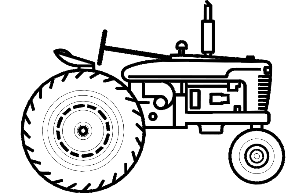 tractor dxf file free download