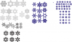 Snowflakes Vector Set CDR File