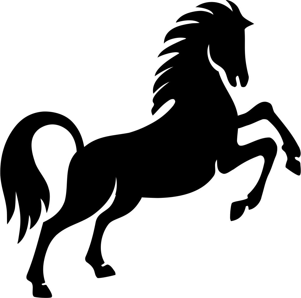 Prancing Horse Stencil Vector CDR File