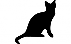 Cat silhouette Vector dxf File