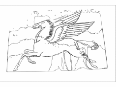Flying Horse dxf File