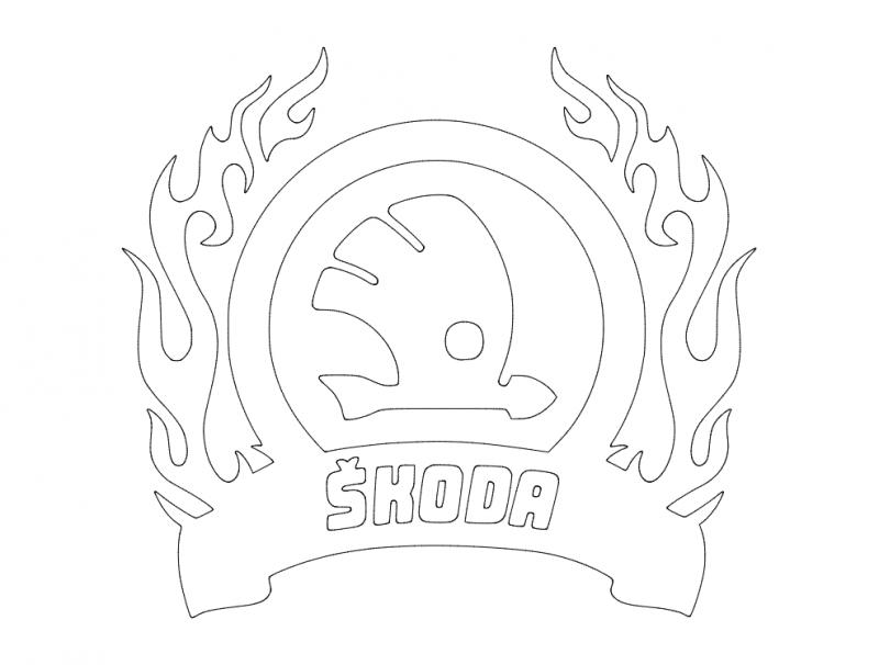 Skoda logo dxf File