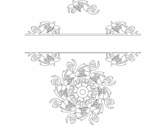 Scroll Design dxf File