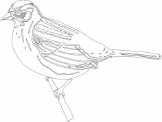 Bird Sitting dxf File