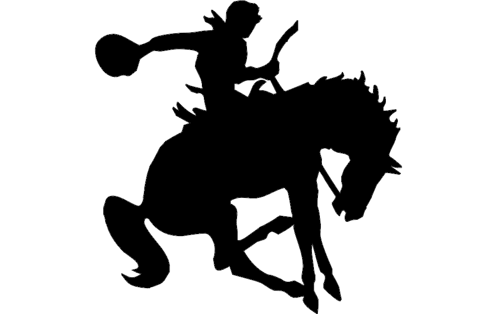 man on horse silhouette dxf file free download 3axisco