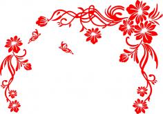 Floral Scrolls Vector Art CDR File