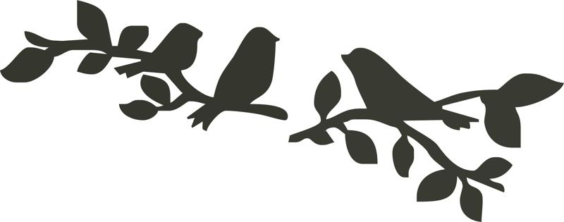 Birds Sitting On Branch Silhouette Vector Free Vector Cdr