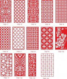 Ornamental Panel Jali Design Vectors CDR File