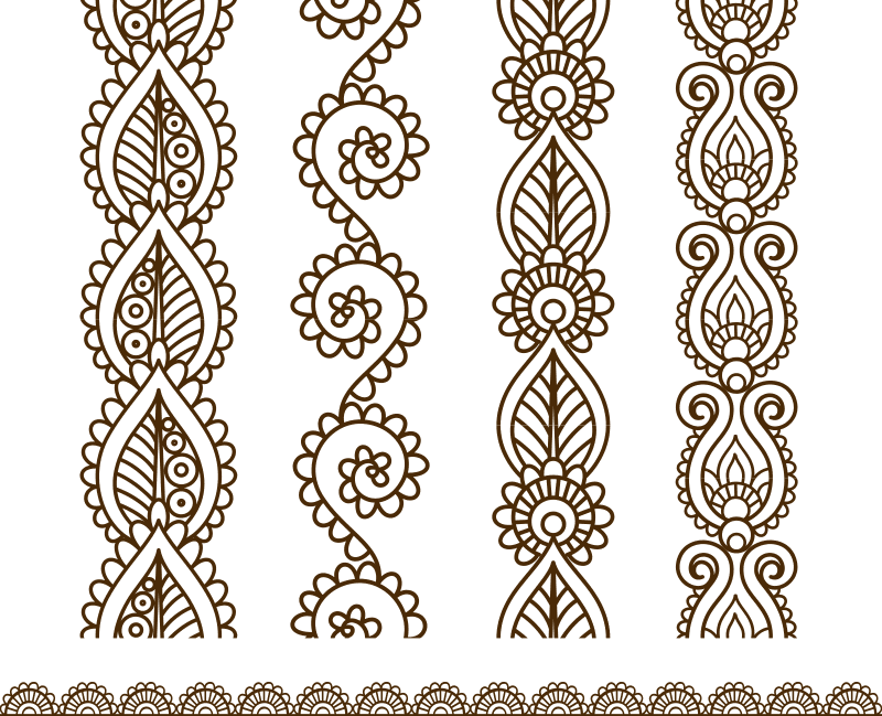 mehndi style ornamental border free vector cdr download