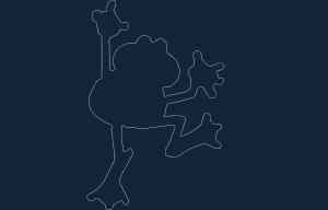 Frog dxf file